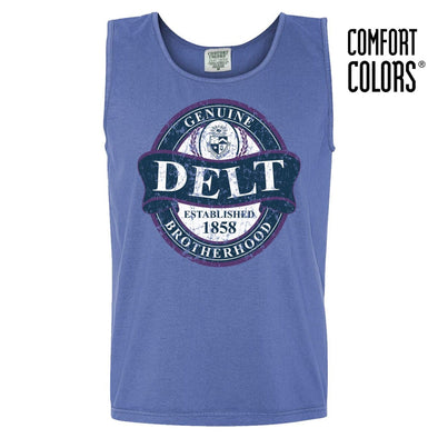 Delt Faded Blue Comfort Colors Tank