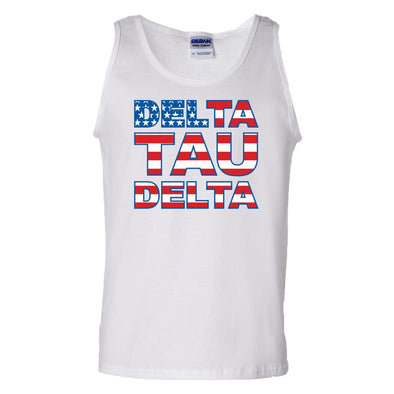 Delt White USA Tank Top