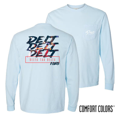 Delt Comfort Colors Chambray Long Sleeve Urban Tee