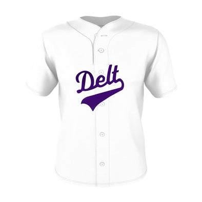 New! Delt White Mesh Baseball Jersey