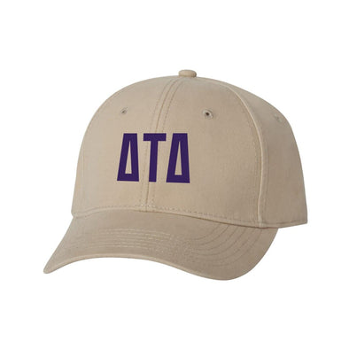 Delt Structured Greek Letter Hat