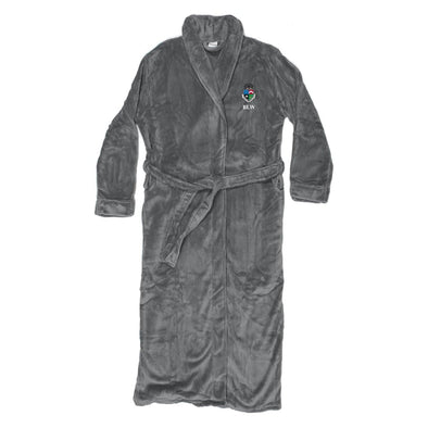 New! Delt Personalized Charcoal Ultra Soft Robe