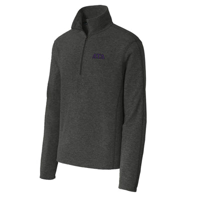 Delt Charcoal 1/4-Zip Microfleece Jacket