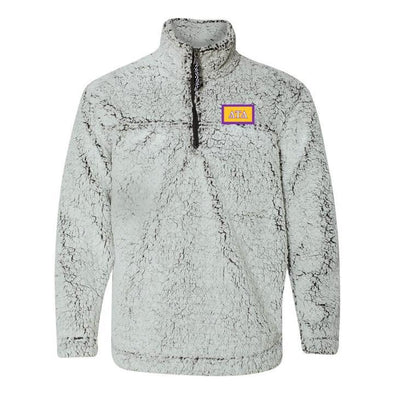 New! Delt Flag Sherpa 1/4 Zip Pullover