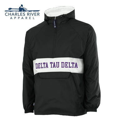 New! Delt Charles River Retro Stripe Rain Jacket