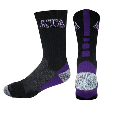 Delt Black & Purple Performance Shooter Socks