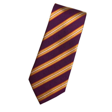 Sale! Delt Purple and Gold Striped Silk Tie