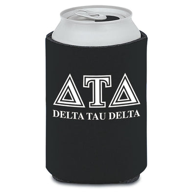 Delt Black Collapsible Koozie