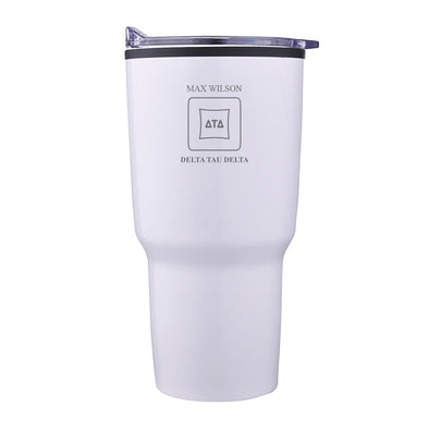 New! Delt Personalized 30oz White Tumbler