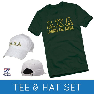Sale! Lambda Chi Tee & Hat Gift Set