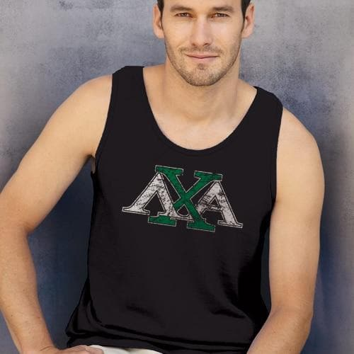 Lambda Chi Black Athletic Tank Top
