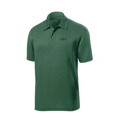 Lambda Chi Heather Forest Performance Polo