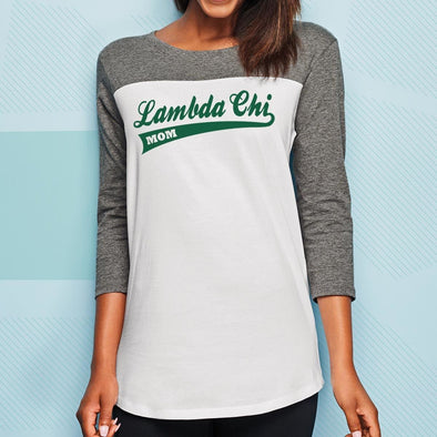 Lambda Chi Mom 3/4 Sleeve Tee
