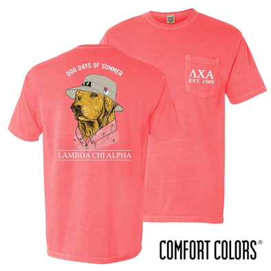 Lambda Chi Comfort Colors Boonie Retriever Tee