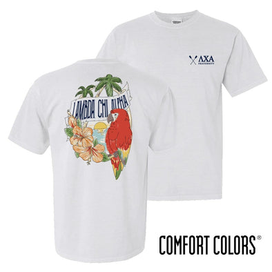 New! Lambda Chi Comfort Colors Tropical Tee