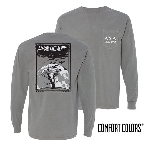 Lambda Chi Halloween Night Comfort Colors Tee