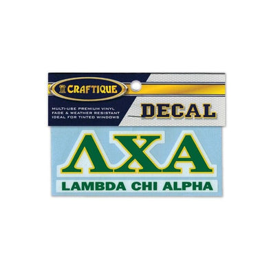 Lambda Chi Greek Letter Decal