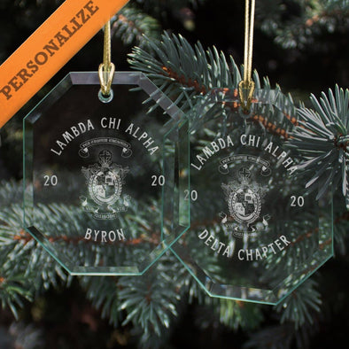 New! Lambda Chi 2020 Personalized Limited Edition Holiday Ornament