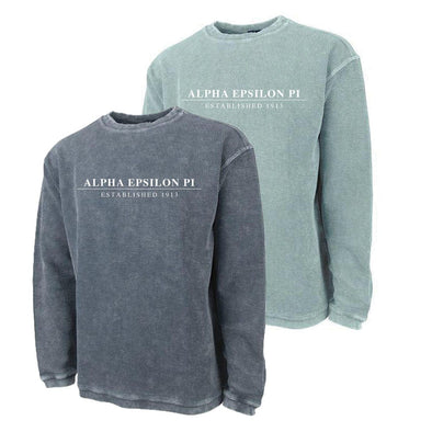 New! AEPi Charles River Corded Crew Sweatshirt