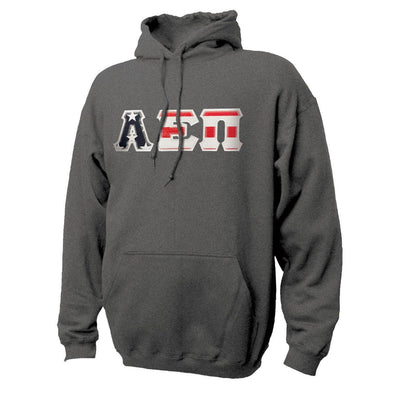 AEPi Stars & Stripes Sewn On Letter Hoodie