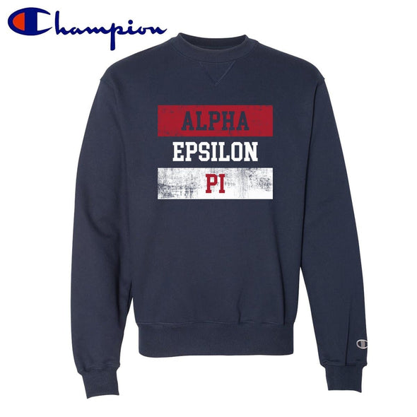 New! AEPi Red White and Navy Champion Crewneck