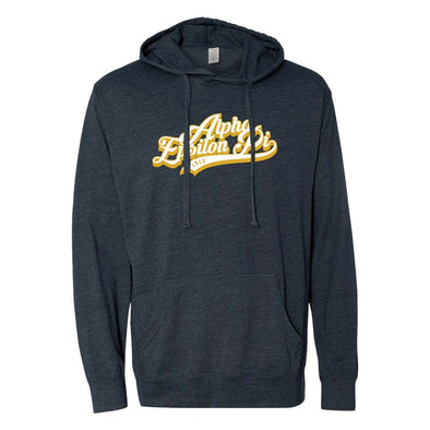 New! AEPi Retro Lightweight T-Shirt Hoodie