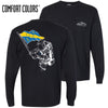 New! AEPi Comfort Colors Black Astronaut Long Sleeve Pocket Tee