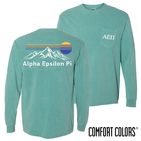 AEPi Retro Mountain Comfort Colors Tee
