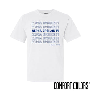 New! AEPi Comfort Colors White Thank You Bag Tee