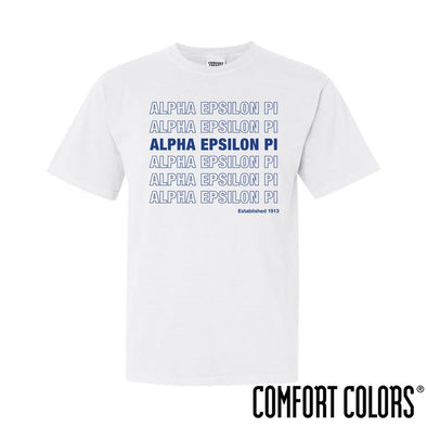 AEPi Comfort Colors White Thank You Bag Tee