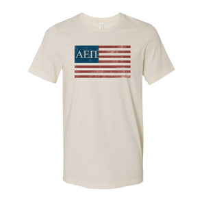 AEPi Natural Retro Flag Tee