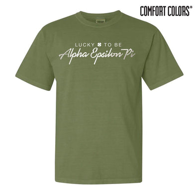 AEPi Green Comfort Colors Lucky Tee