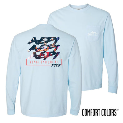 AEPi Comfort Colors Chambray Long Sleeve Urban Tee