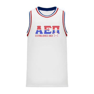 AEPi Retro Block Basketball Jersey