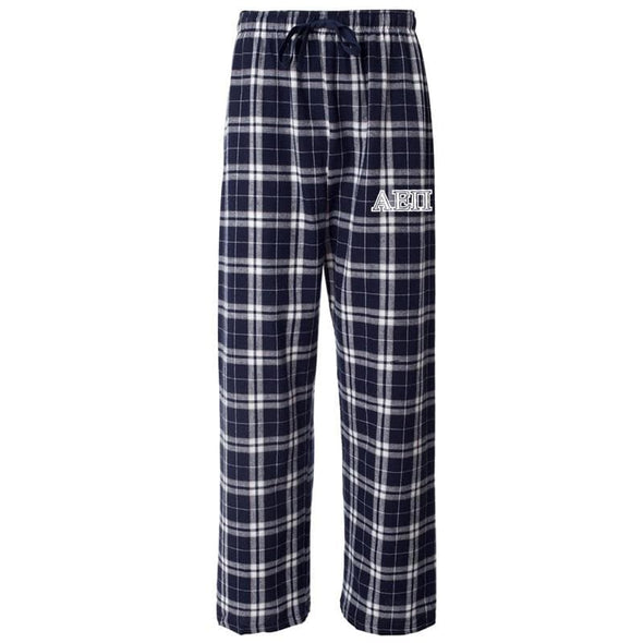 AEPi Navy Plaid Flannel Pants