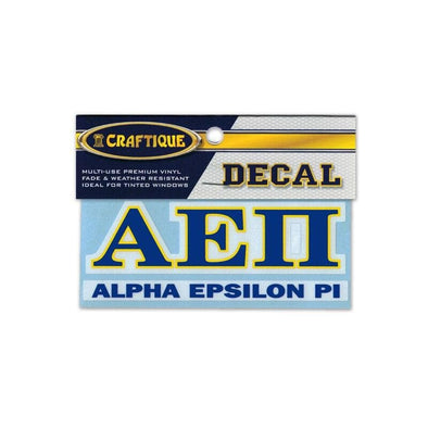 AEPi Greek Letter Decal