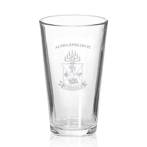AEPi Coat of Arms Fellowship Glass