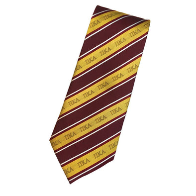 Sale! Pike Garnet and Gold Striped Silk Tie