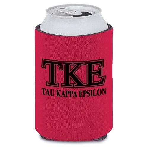 Tau Kappa Epsilon Red Collapsible Koozie