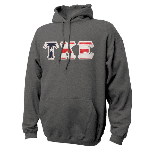 TKE Stars & Stripes Sewn On Letter Hoodie