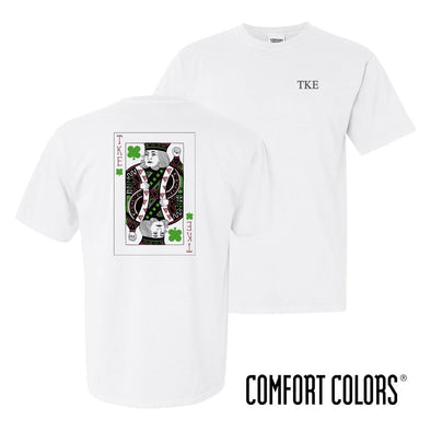 TKE Comfort Colors White Short Sleeve Clover Tee