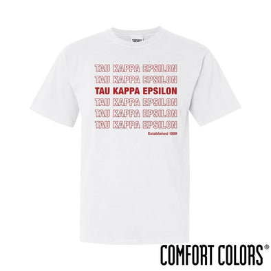 TKE Comfort Colors White Thank You Bag Tee
