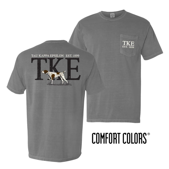 TKE Gray Comfort Colors Pocket Tee