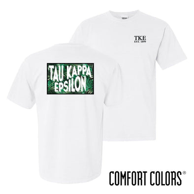 TKE Comfort Colors White Short Sleeve Jungle Tee