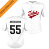 TKE Personalized White Mesh Baseball Jersey