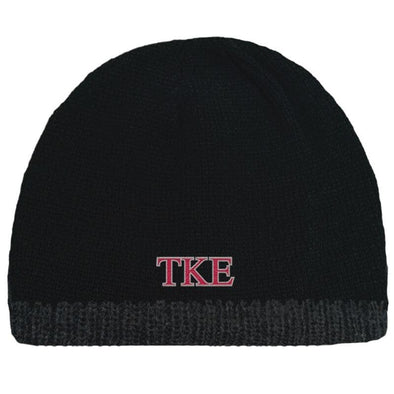 Sale! TKE Black Knit Beanie with Fleece Lining
