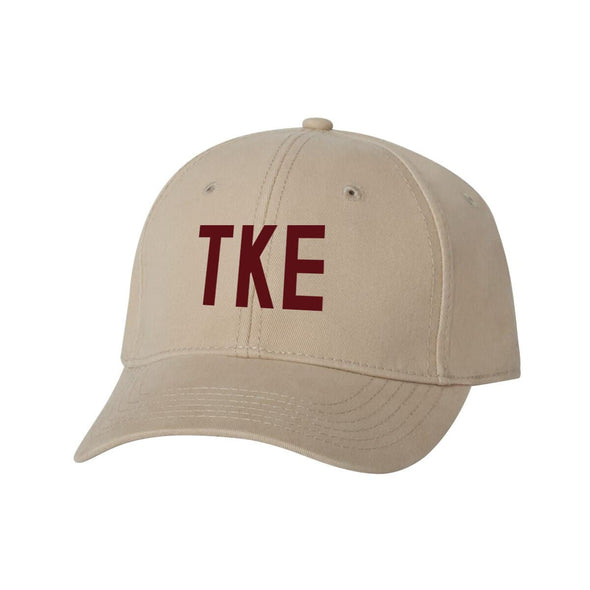 TKE Structured Greek Letter Hat