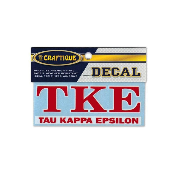 TKE Greek Letter Decal