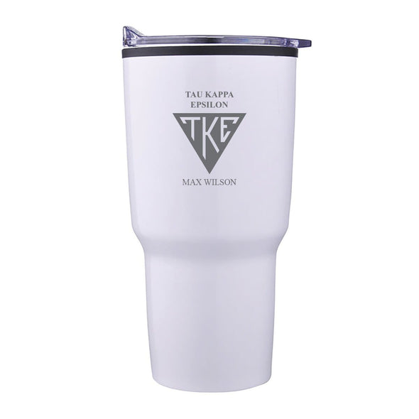 TKE Personalized 30oz White Tumbler
