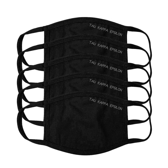 TKE Black Adjustable Face Mask